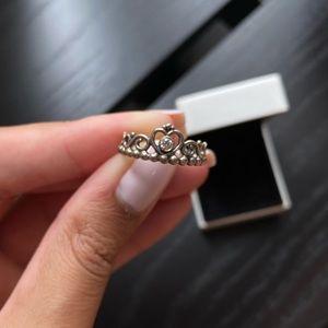 Pandora Princess Tiara Crown Ring   Silver